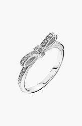 Pandora Design 'Sparkling Bow' Ring Silver Clear