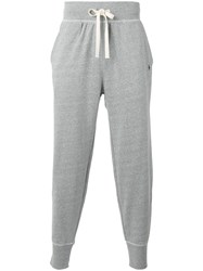 Polo Ralph Lauren Gathered Ankle Track Pants Grey