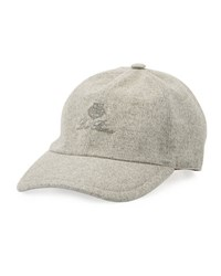 Loro Piana Storm System Cashmere Baseball Hat Light Grey
