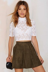 Nasty Gal Marianne Pleated A Line Skirt