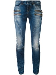 Faith Connexion Zipped Pocket Jeans Women Cotton Spandex Elastane 29 Blue