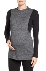 Lab40 Women's 'Brie' Colorblock Maternity Nursing Sweater