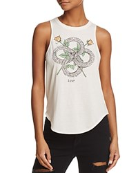 Chaser Snake Graphic Muscle Tank Vintage White