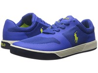 Polo Ralph Lauren Hellidon Sapphire Star Sport Mesh Men's Lace Up Casual Shoes Purple