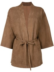 Salvatore Santoro Belted Jacket Brown