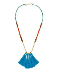 Panacea Long Beaded Tassel Necklace Multi
