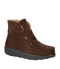 Fitflop Loaff Shearling Ankle Boot Male Chocolate