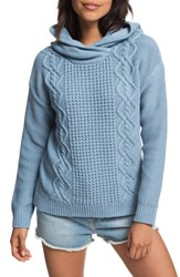 Roxy Off To Dinner Hooded Sweater Ashley Blue