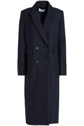 Sandro Double Breasted Wool Coat Navy