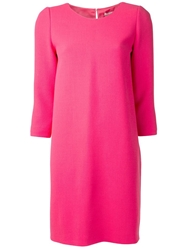 Bouchra Jarrar Double Crepe Dress Pink And Purple