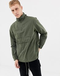 Another Influence Oversized Overhead Hoodie Jacket Green