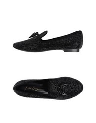 Lola Cruz Moccasins Black