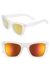 Bp. 51Mm Translucent Square Sunglasses Clear Gold Clear Gold