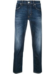 Department 5 Cropped Fitted Jeans Blue