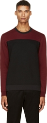 Marc By Marc Jacobs Black And Red Colorblock Roy Jumper