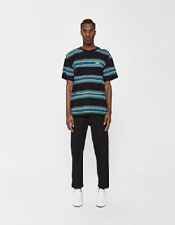 Obey S S Route Classic Tee In Black Multi