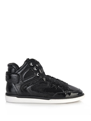 Dolce And Gabbana High Top Patent Leather Trainers