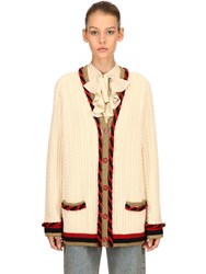 Gucci Wool And Cashmere Cardigan Ivory