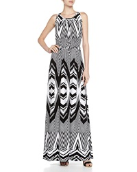 Melissa Masse Stripe Drawstring Maxi Dress Black