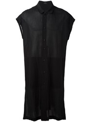 Lost And Found Ria Dunn Sheer Long Shirt Black