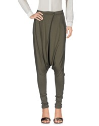 Manila Grace Denim Trousers Casual Trousers Military Green