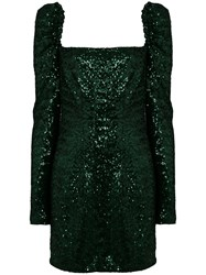 Amen Sequin Mini Dress Green