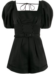 Self Portrait Short Sleeve Fitted Playsuit 60