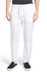 Original Paperbacks Men's 'San Juan' Drawstring Linen Pants White