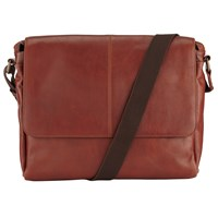 John Lewis Gladstone Messenger Bag Tan
