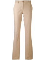 P.A.R.O.S.H. Candela Flared Trousers Nude Neutrals
