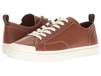 Coach C114 Leather Lo Top Sneaker Dark Saddle Lace Up Casual Shoes Tan