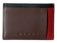 Marni Multicolor Card Holder Rust Brown Black Credit Card Wallet