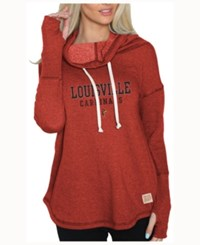 Retro Brand Women's Louisville Cardinals Funnel Neck Sweatshirt Red