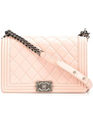 Chanel Vintage Medium Quilted Shoulder Bag Pink Purple