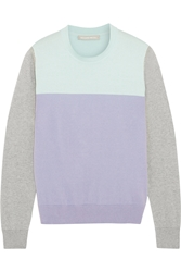 Richard Nicoll Color Block Cotton And Cashmere Blend Sweater