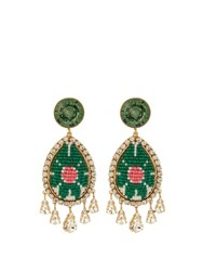 Shourouk Suma Earrings Green Multi