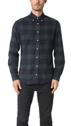 Gitman Brothers Vintage Long Sleeve Blackwatch Plaid Flannel Shirt