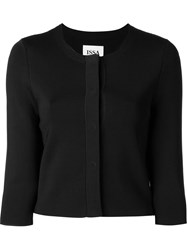 Issa Cropped Cardigan With Three Quarter Length Sleeve Black