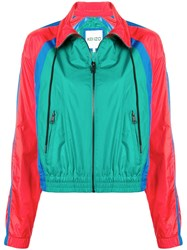 Kenzo Colour Block Track Jacket Green