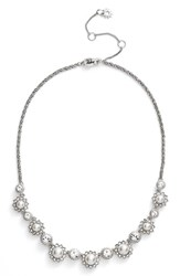 Marchesa Women's Frontal Necklace White Silver