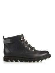 Sorel Mad Mukluktm Ii Leather And Canvas Ankle Ski Boots