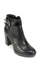 Summit By White Mountain 'Leanne' Moto Boot Women Black Leather