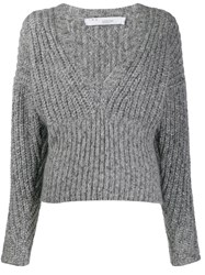 Iro Knitted Long Sleeve Jumper Grey