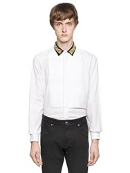 Lords And Fools Embroidered Collar Cotton Poplin Shirt
