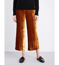 A.L.C Robbie Wide Leg Velvet Trousers Gold