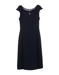 Antonio Fusco Knee Length Dresses Dark Blue
