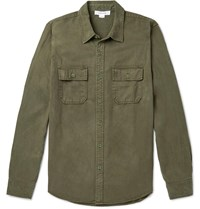 Frame Lyocell And Cotton Blend Shirt Green