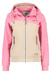 Ragwear Nuggie Waterproof Jacket Pink Rose