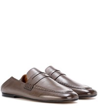 Isabel Marant Fanzel Leather Loafers Brown
