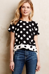 Meadow Rue Domino Dot Tee Black Motif